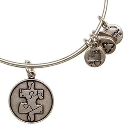 Alex and Ani Piece of the Puzzle Expandable Wire Bangle Russian Silver