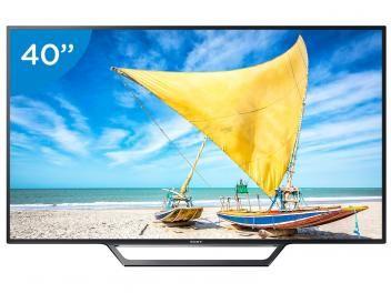 "Smart TV LED 40"" Sony KDL-40W655D - Conversor Digital 2 USB 1 HDMI"