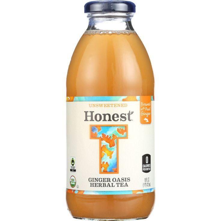 Honest Tea Tea - Organic - Glass Bottle - Ginger Oasis Herbal - 16 oz - case of 12