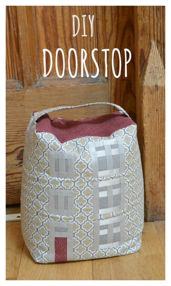 How to sew a doorstop, using your own home as a source of inspiration