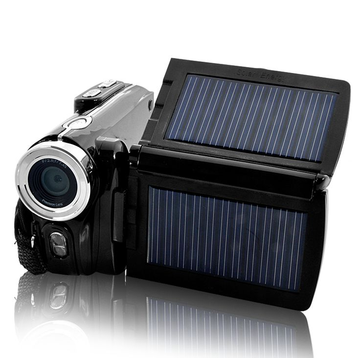 HD Digital Video Camera with Dual Solar Charging Panels, 16MP =====> This HD Camcorder with Dual solar panels and large 3 inch LCD display is idea for long trips or outdoor events. Take still images or moving video with this handy 16MP HD camera, featuring image and video at 15/30fps.