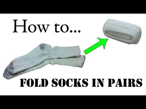 ▶ Travel Tips: How to Fold Your Socks in Pairs (Double Roll) - Army Ranger Roll Basic Training - YouTube
