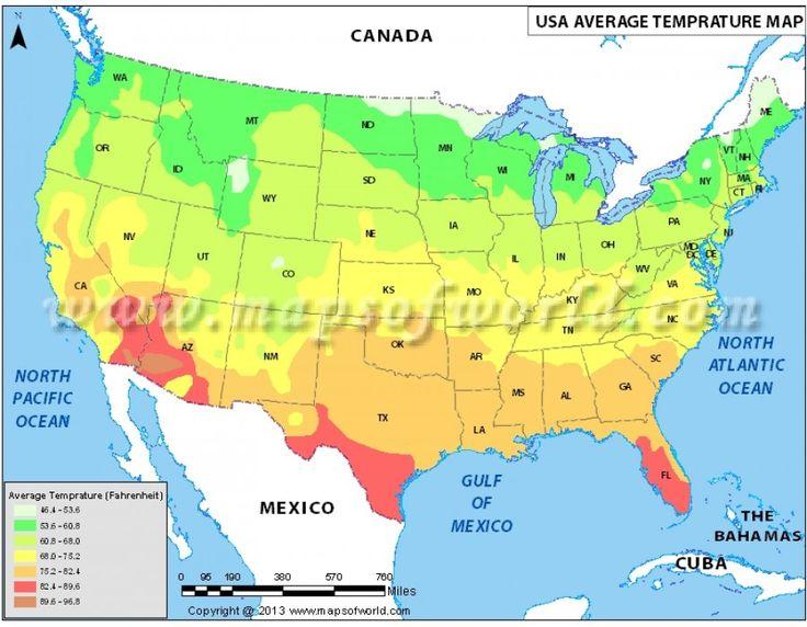 Ide Terbaik Tentang Us Temperature Map Di Pinterest - Us high temperatures map
