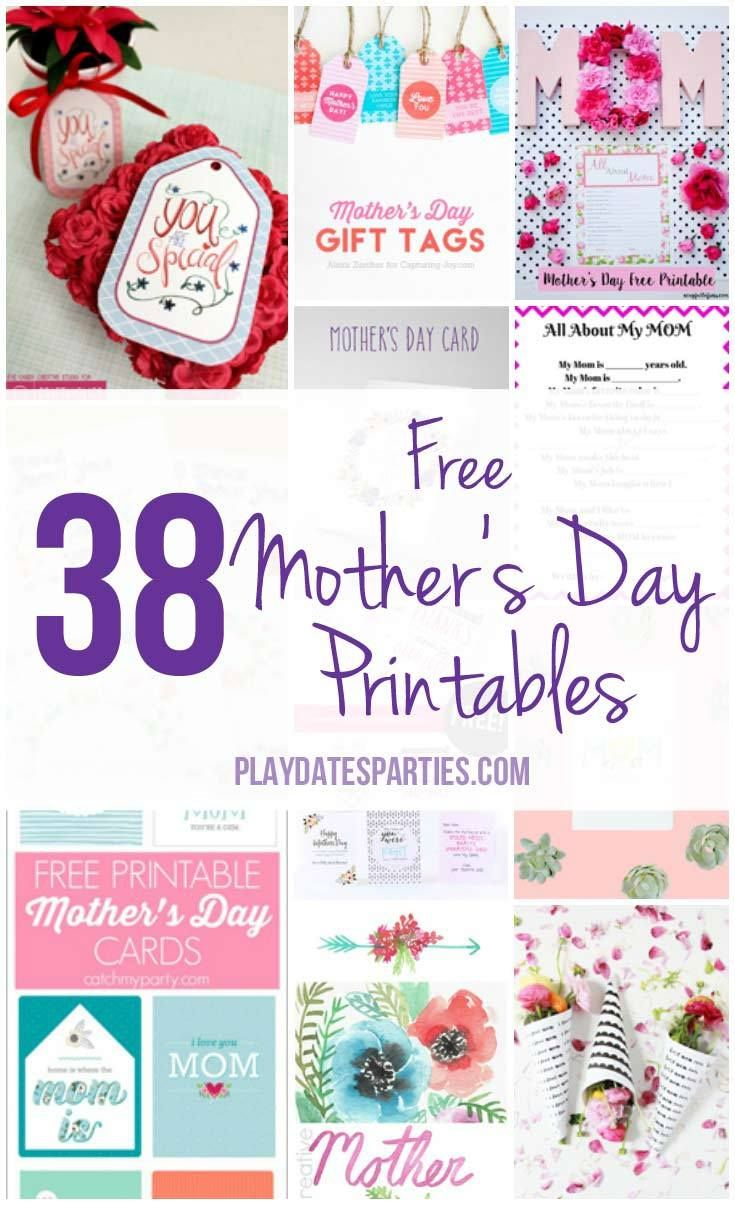 Looking for something special to give Mom this Mother's Day? Take a look at this roundup of 38 Free Mother's Day Printable-from cards to questionnaires- ready for you to download and print!