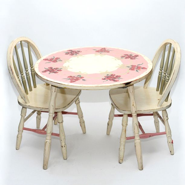 antique childrens play table and chairs | Painted Childrenu0027s Table Set vintage multi vintage & 63 best Painted children furniture images on Pinterest | Kid ...