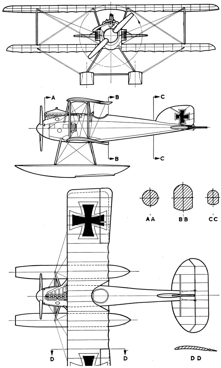 109 best blueprints images on pinterest aircraft airplane and albatros w4 blueprint malvernweather Image collections