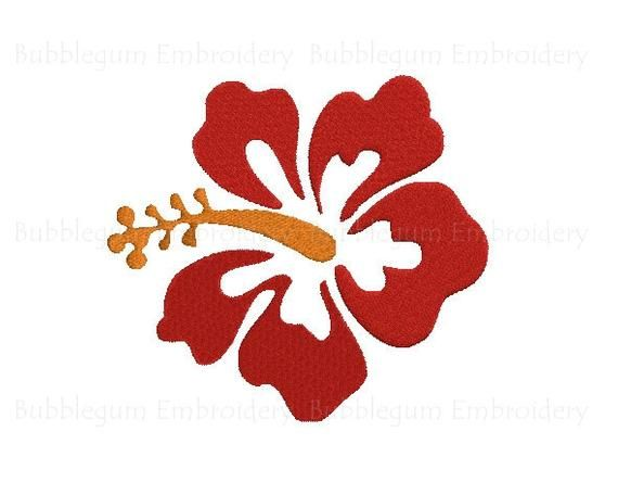 Hibiscus Flower Embroidery Design Instant Download Etsy In 2020 Hibiscus Clip Art Flower Embroidery Designs Flower Clipart