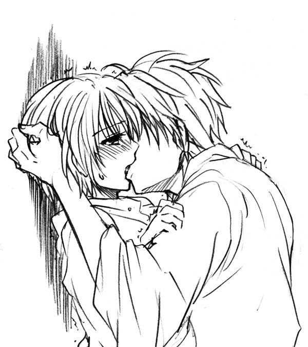 Картинки для раскрашивания поцелуй