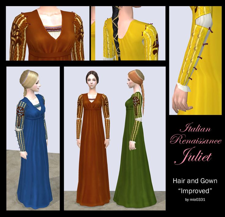 Italian Renaissance Hair and Gown for female by mio0331.