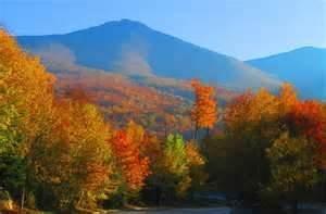 new hampshire mountains foliage