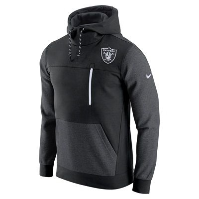 Oakland Raiders Stadium Avenue Pullover Fleece Hoodie - Mens