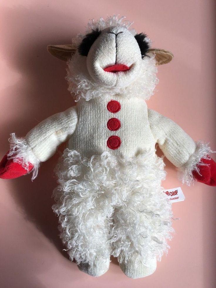 2010 Aurora Talking Lamb Chop Plush Stuffy Lamb Chop's Play Along Shari Lewis #Aurora