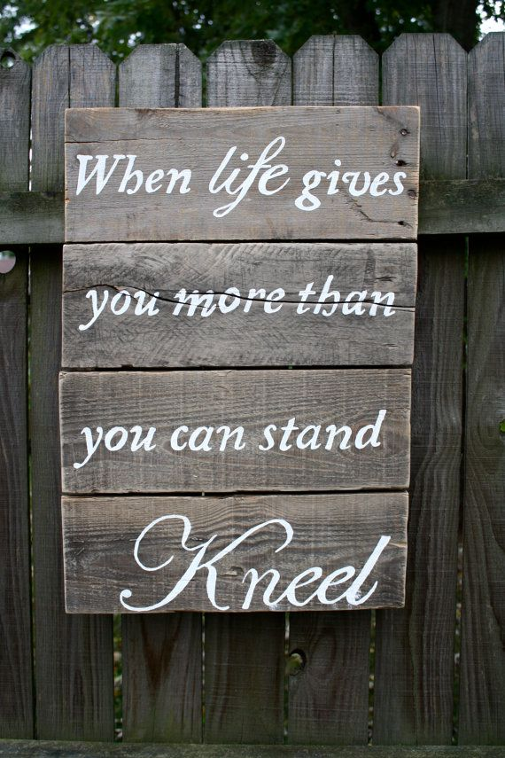 Rustic Wood Inspirational Sign