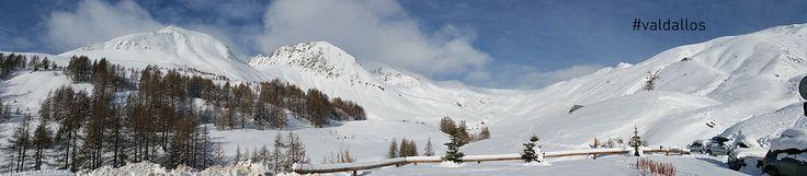 Neige fraîche au petit matin, et superbe vue panoramique sur le cirque du Verdon. photo Val d'Allos Gérard C #neige #ski #verdon