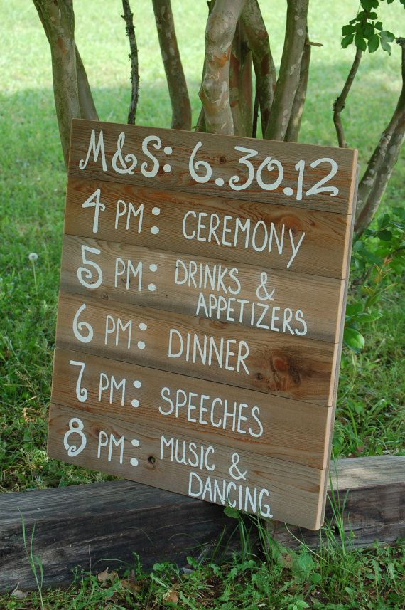 Reception Schedule Itinerary Menu Board. by TRUECONNECTION on Etsy