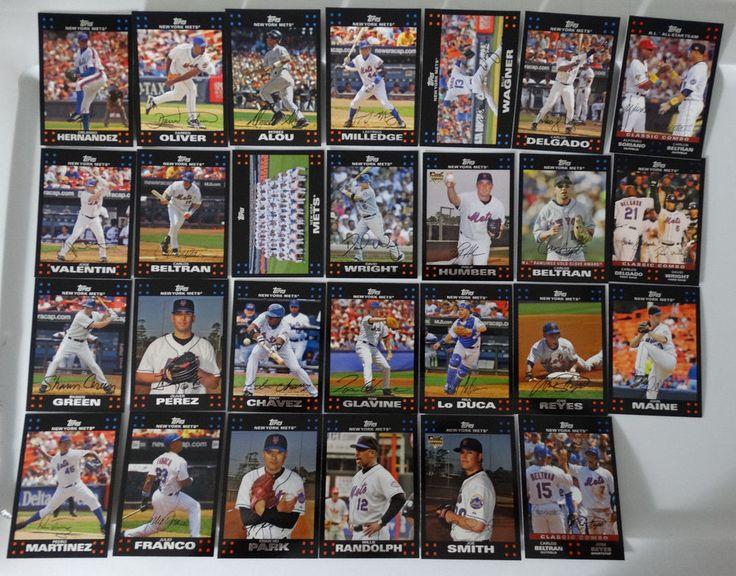 2007 Topps Series 1 & 2 New York Mets Team Set of 27 Baseball Cards #topps #NewYorkMets