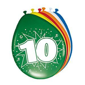 10 jaar ballonnen 8 stuks