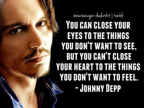 Johnny Depp Love Quotes : Love ... depression quotes emotions feeling johnny depp johnny depp ...