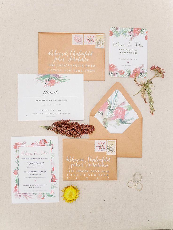 Spring Wedding Watercolor Custom Invitations In 2020 Wedding Invitations Stationery Wedding Invitations Wedding Invitation Paper