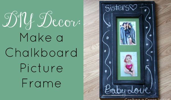 """DIY Decor: Make a Chalkboard Picture Frame could do """"then and now"""""""