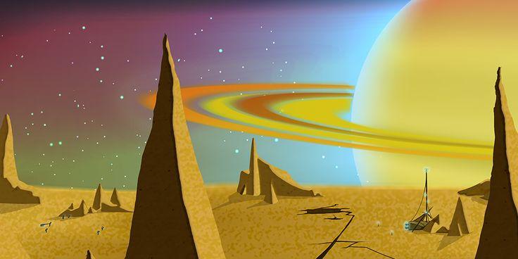Titan & Saturn - Galactic Echoes Intro