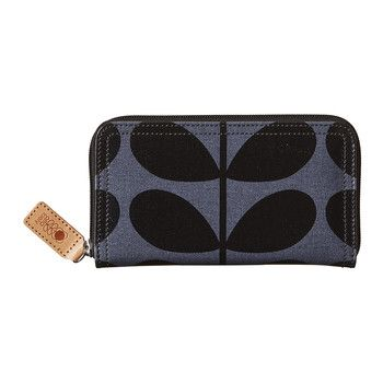 Orla Kiely - Solid Stem Big Zip Purse
