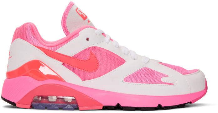 Shop for White and Pink Nike Edition Air Max 180 Sneakers by