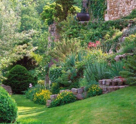 Epingle Par Dominique Philippe Sur Paysage Avec Images Jardin En Pente Amenagement Jardin En Pente Jardins