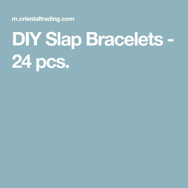 DIY Slap Bracelets - 24 pcs.