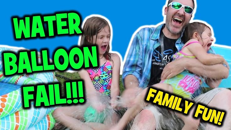 WATER BALLOON FAIL!!! - 2 Girls Playing In Swimming POOL - HAPPY FAMILY ...