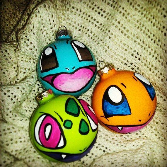 Original Starters Pokemon Christmas Ornaments by OTBPCreations
