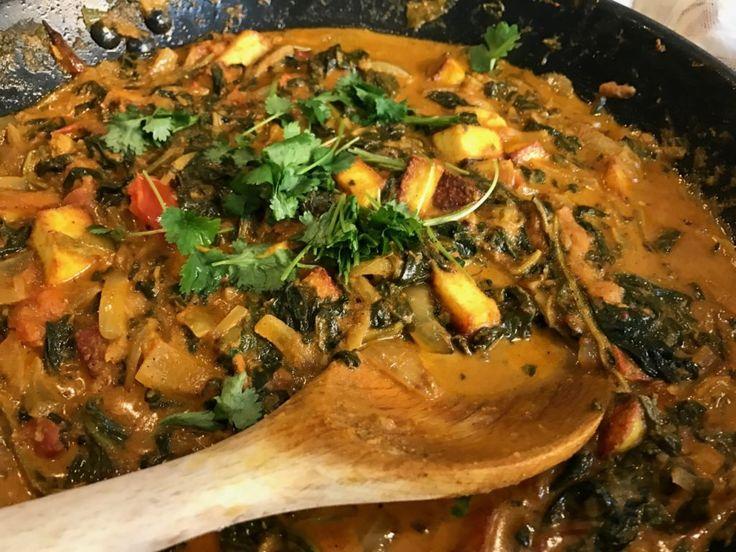 Vegansk Palak Paneer, med tofu! | Jävligt gott - vegetarisk mat och vegetariska recept för alla, lagad enkelt och jävligt gott.
