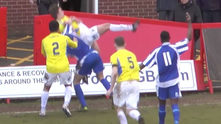 Unbelievable Body Slam In A Football Game - Worcester City Vs Stockport ...