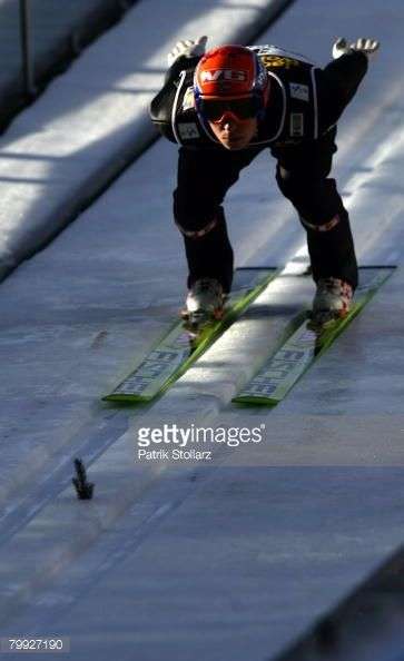 Anders Jacobsen of Norway jumps during the first heat of the FIS Ski Flying World Championships at the Heini Klopfer ski jump arena on February 22...
