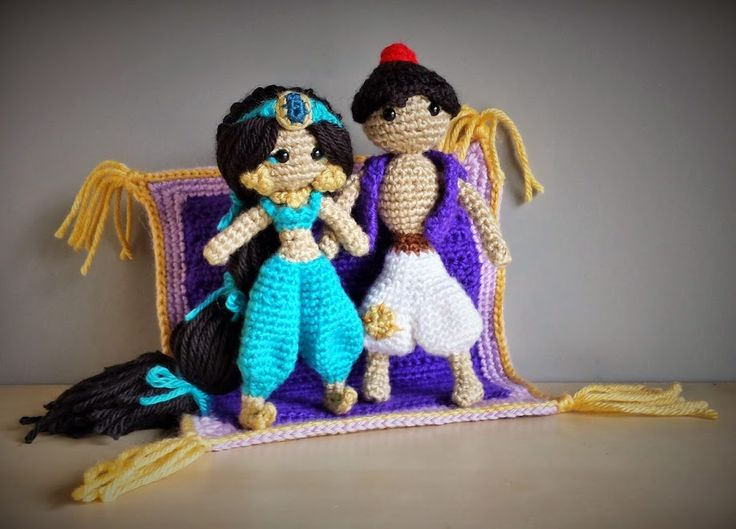 Photo: Jasmine, Aladdin & Magic Carpet