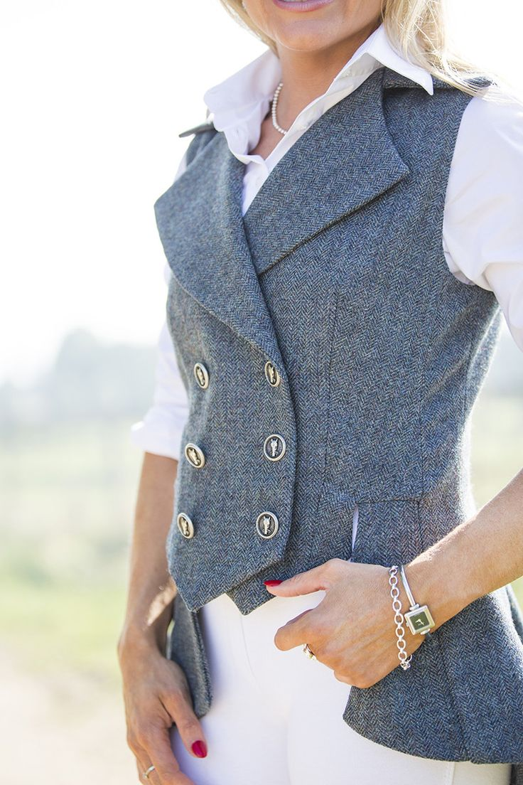 Lady Mary Waistcoat Nevis Tweed A fitted bodice is seamlessly tailored to combine with a luxurious peplum giving a regimental yet feminine silhouette to this updated, timeless classic. Purposefully tailored to allow being admired from every angle