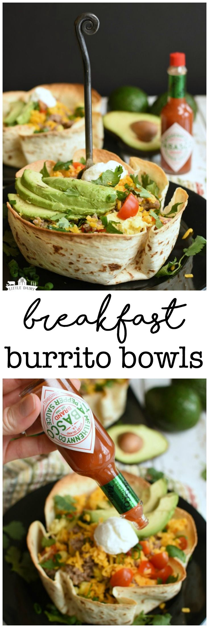 Breakfast Burrito Bowls - pile them high with your favorite toppings! #AD #GuacWorld #FlavorYourWorld @AvosFromMexico @Tabasco http://bit.ly/2p8H3ky