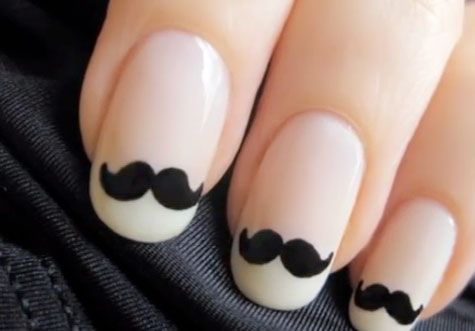 ¡Plántate un bigotito en las uñas!