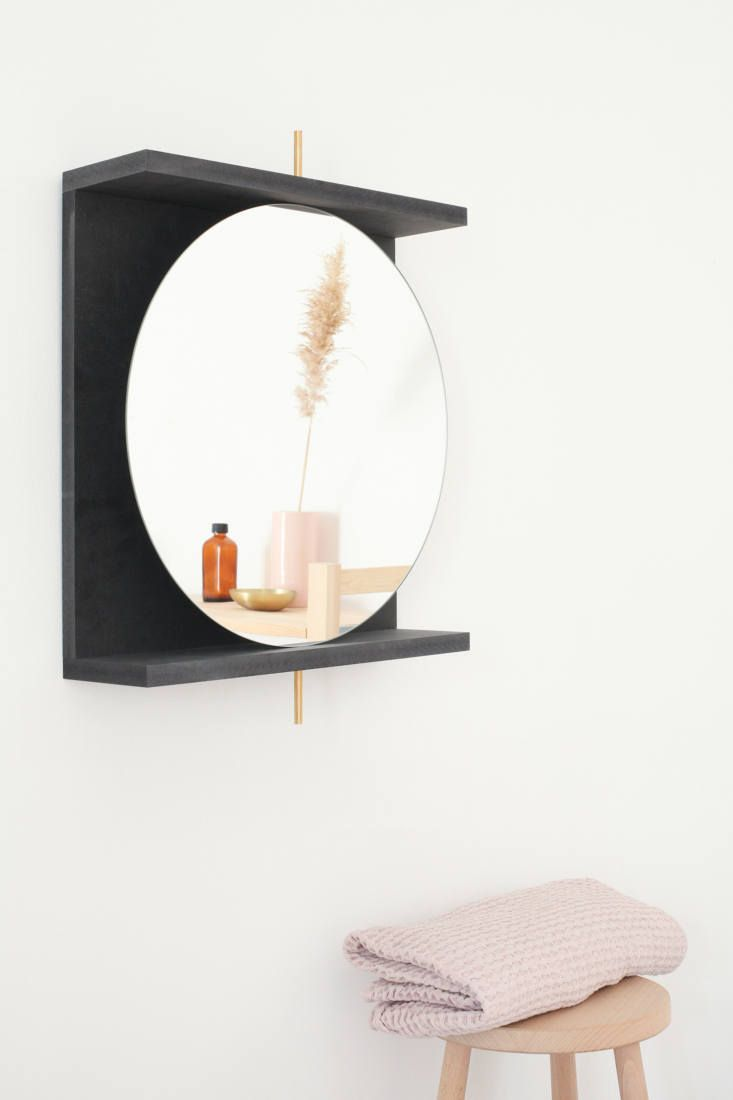Diy Round Swivel Mirror With Shelf Mirror With Shelf Mirror