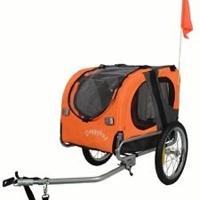 Original Doggyhut MEDIUM Dog Bike Trailer Pet Bicycle Trailer In Orange