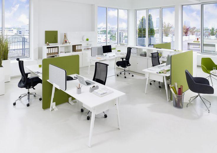 Schreibtisch: Sox - moderner, höhenverstellbarer, designorientierter Schreibtisch von Febrü.