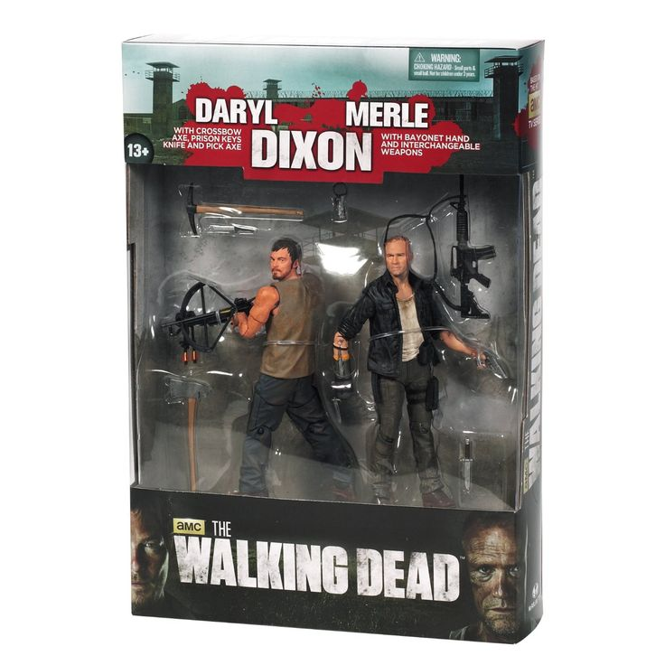 The Walking Dead TV Series Merle & Daryl Dixon 2 Pack Action Figure Set