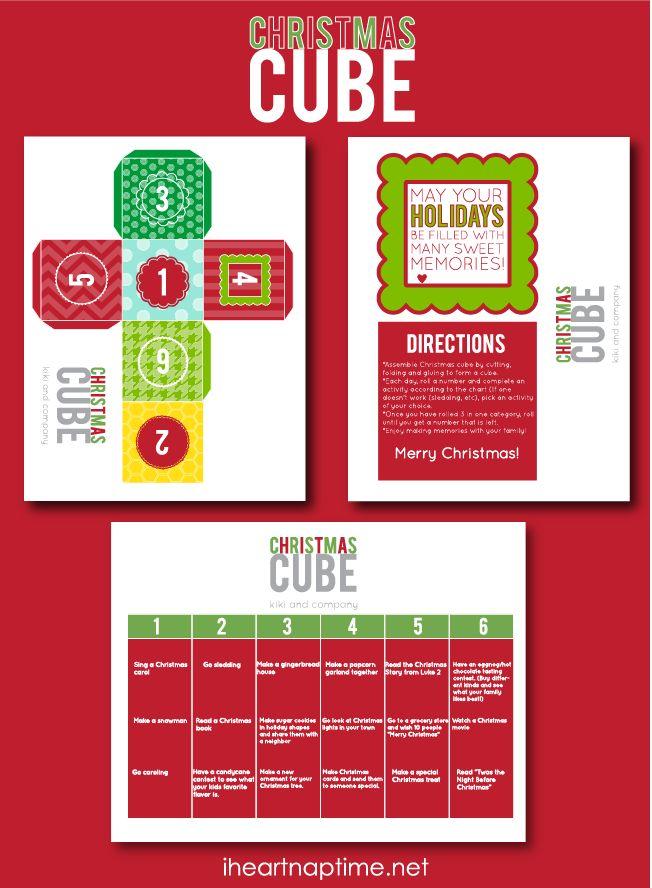 Christmas Cube Advent by @Katherine Adams Adams Rodriguez Comin {www.kikicomin.com} featured on iheartnaptime.com ...love this! #freeprintable