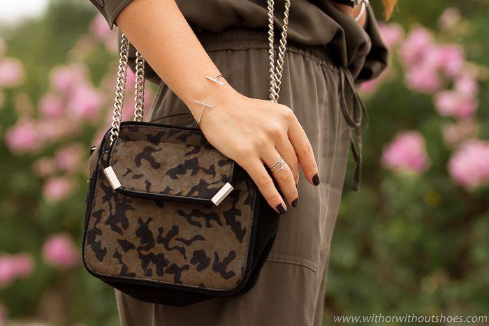 #Camo Khaki #Bag #camuflaje #Zara #Joyas #Plata #Nuups