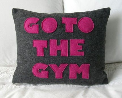 .: Houses, Couch, Work Outs, Motivation, Healthy Tips, Gym, Throw Pillows, Felt Appliques, Workout