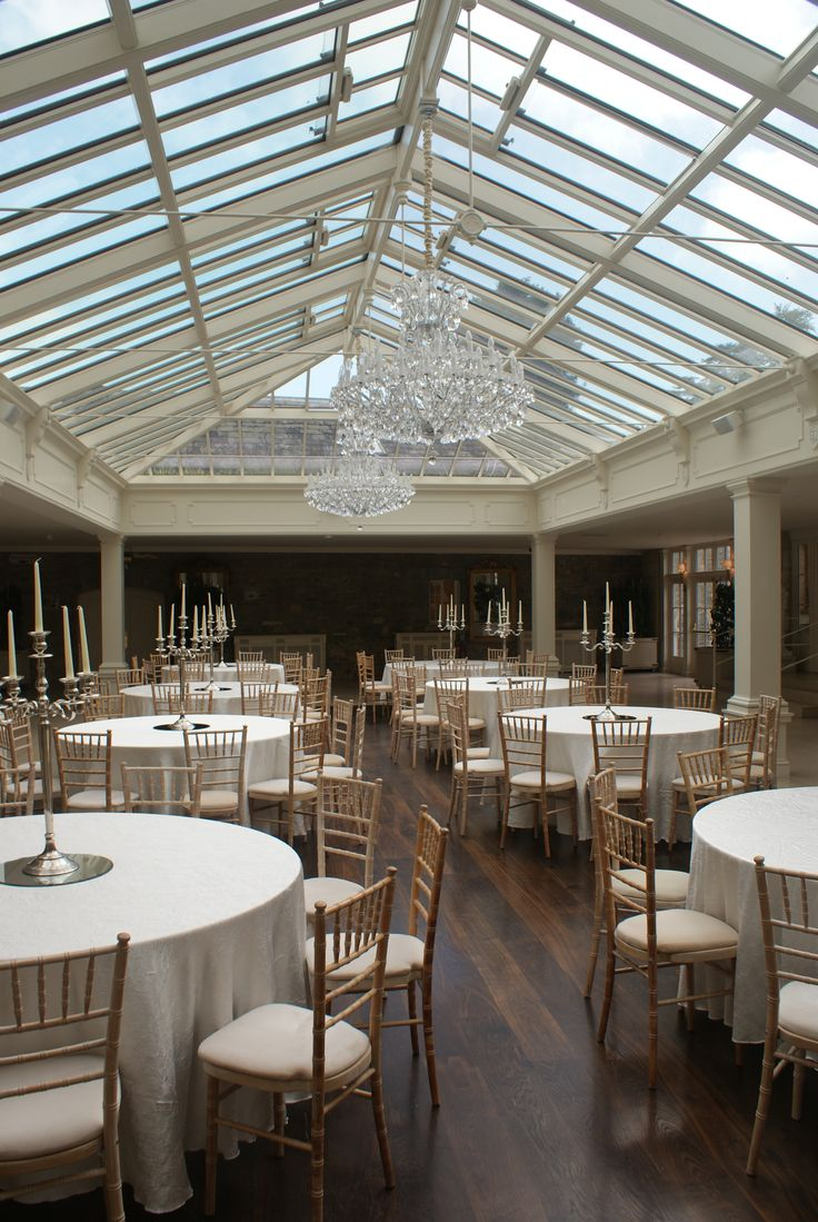 The stunning orangery - flooded with light
