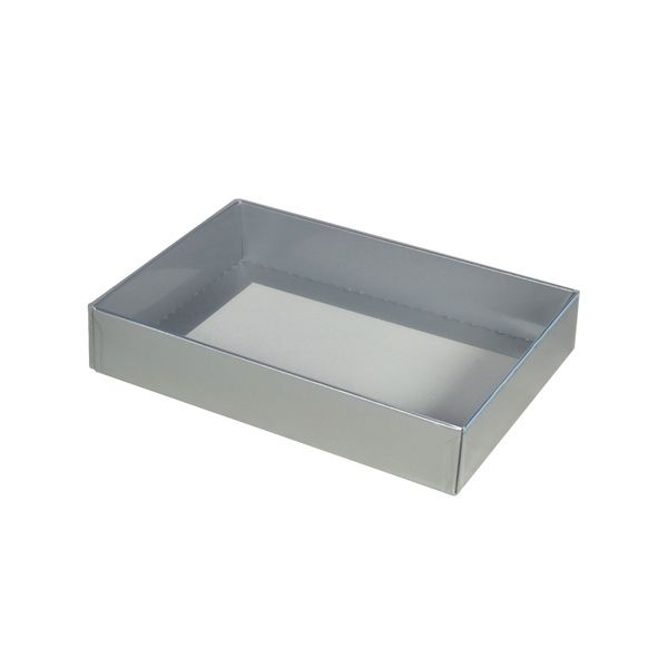 NOW $1.30ea - 355 x Slim Line C6 Gift Box - Gloss Silver with Clear Lid