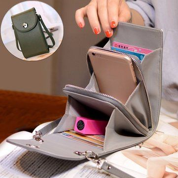 Vintage PU Leather Universal 6inch Shoulder Phone Bag For iPhone Samsung Huawei Xiaomi