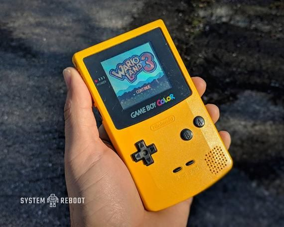 Hey I Found This Really Awesome Etsy Listing At Https Www Etsy Com Listing 685789859 Nintendogame Boycolor Dandelio Dandelion Yellow Gameboy Gaming Products