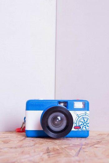 Blue Fisheye analog Camera by Lomography